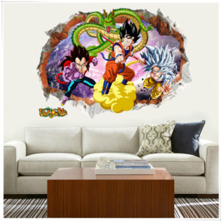 Sticker-Mural-Dragon-Ball-GT-Goku-Vegeta
