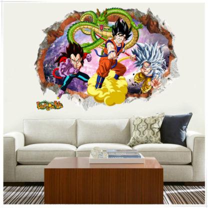 Sticker-Mural-Dragon-Ball-GT-Goku-Vegeta