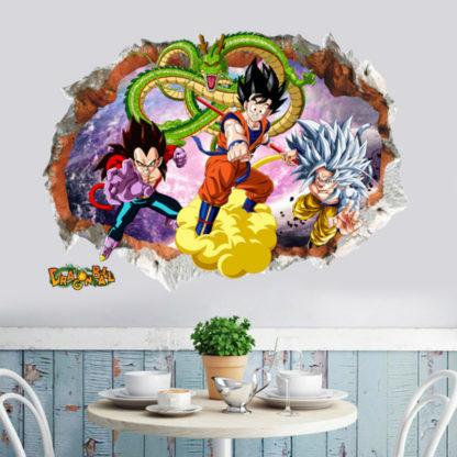 Sticker-Mural-Dragon-Ball-GT-Goku-Vegeta-a