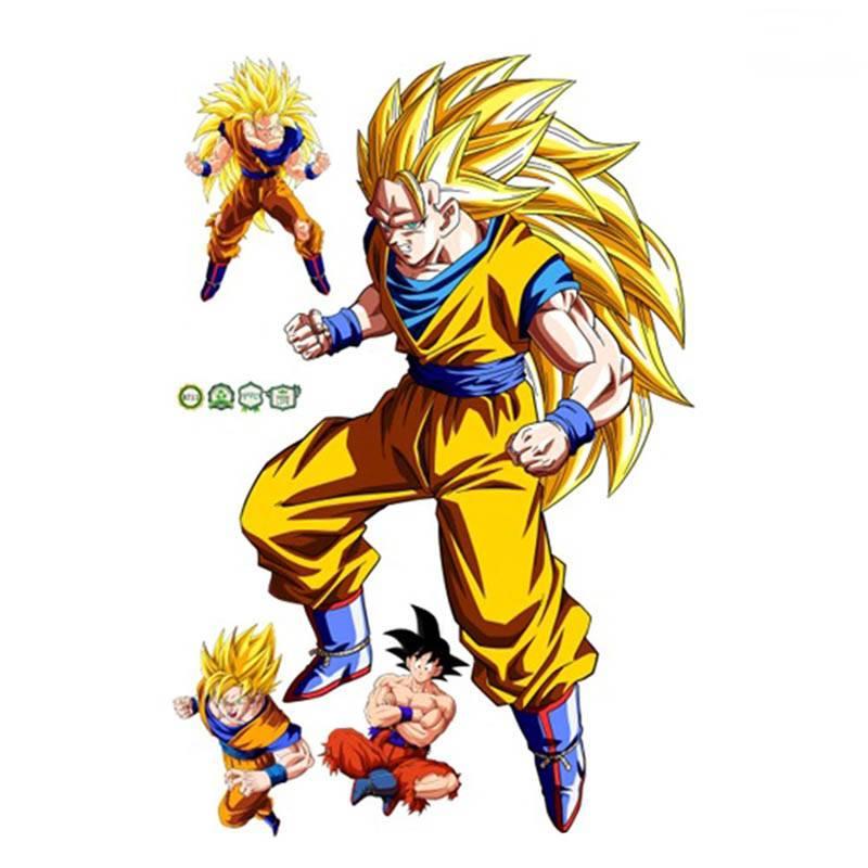 Planche Sticker Mural Dragon Ball Z Goku Super Saiyan 3 Saiyan