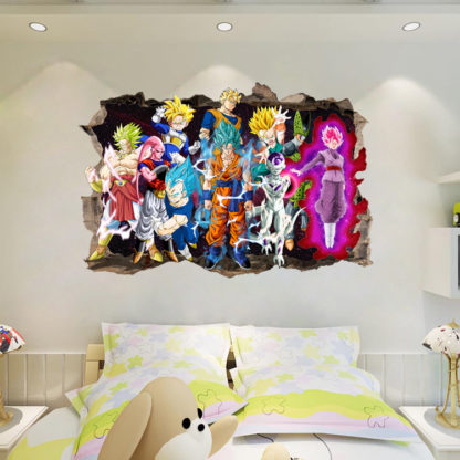 Sticker-Mural-Dragon-Ball-Z-Personnages