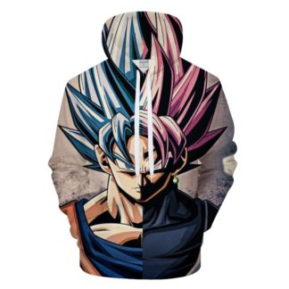 Sweat-a-Capuche-Dragon-Ball-Goku-Bleu-Rose