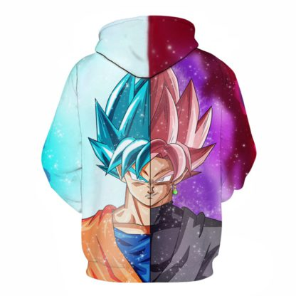 Sweat-a-Capuche-Dragon-Ball-Super-Goku-Bleu-Rose-dos