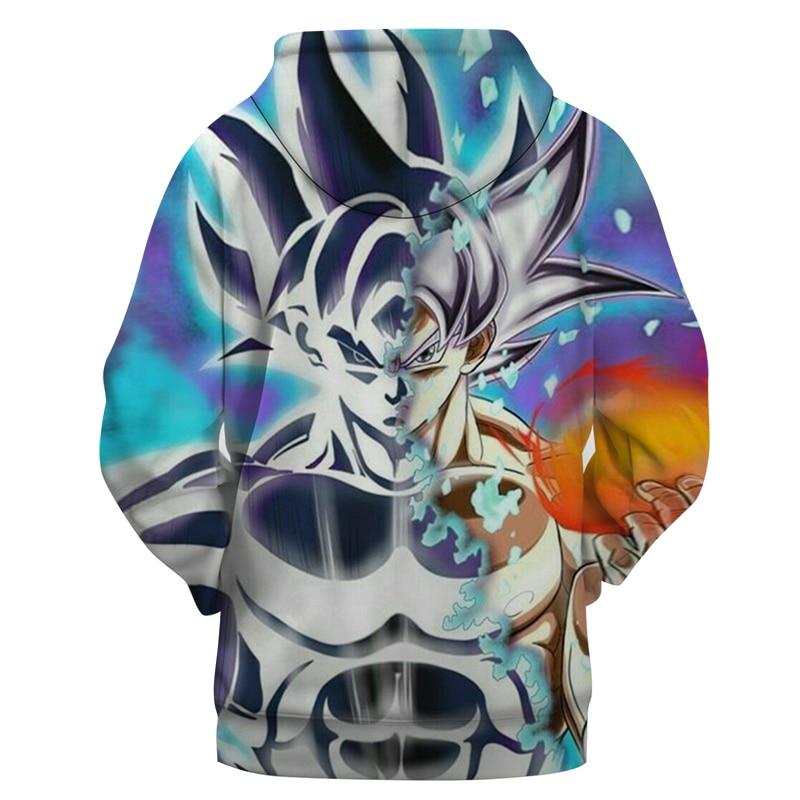 Sweat A Capuche Dragon Ball Super Goku Ultra Instinct Dos Saiyan