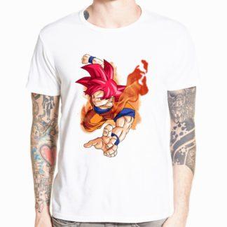 Tee-Shirt-Dragon-Ball-Super-Goku-Saiyan-Rose