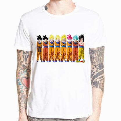 Tee-Shirt-Dragon-Ball-Super-Goku-Transformations
