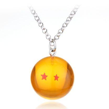 Collier-Dragon-Ball-Z-Boule-de-Cristal-2-etoiles