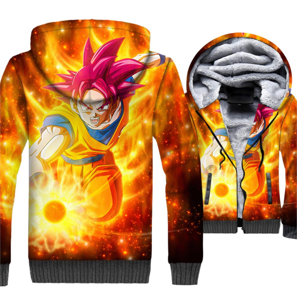 Manteau Dragon Ball Goku Super Saiyan Divin Polaire