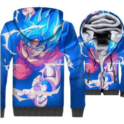 Manteau-Dragon-Ball-Super-Goku-SSJ-Bleu