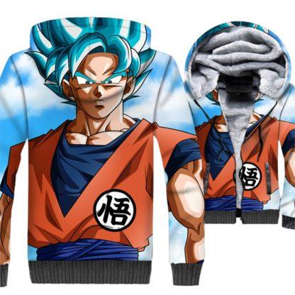 Manteau-Dragon-Ball-Super-Goku-Super-Saiyan-Bleu