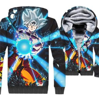 Manteau-Dragon-Ball-Super-Goku-Ultra-Instinct-Kamehameha