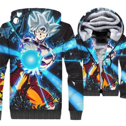 Manteau-Dragon-Ball-Super-Goku-Ultra-Instinct-Kamehameha