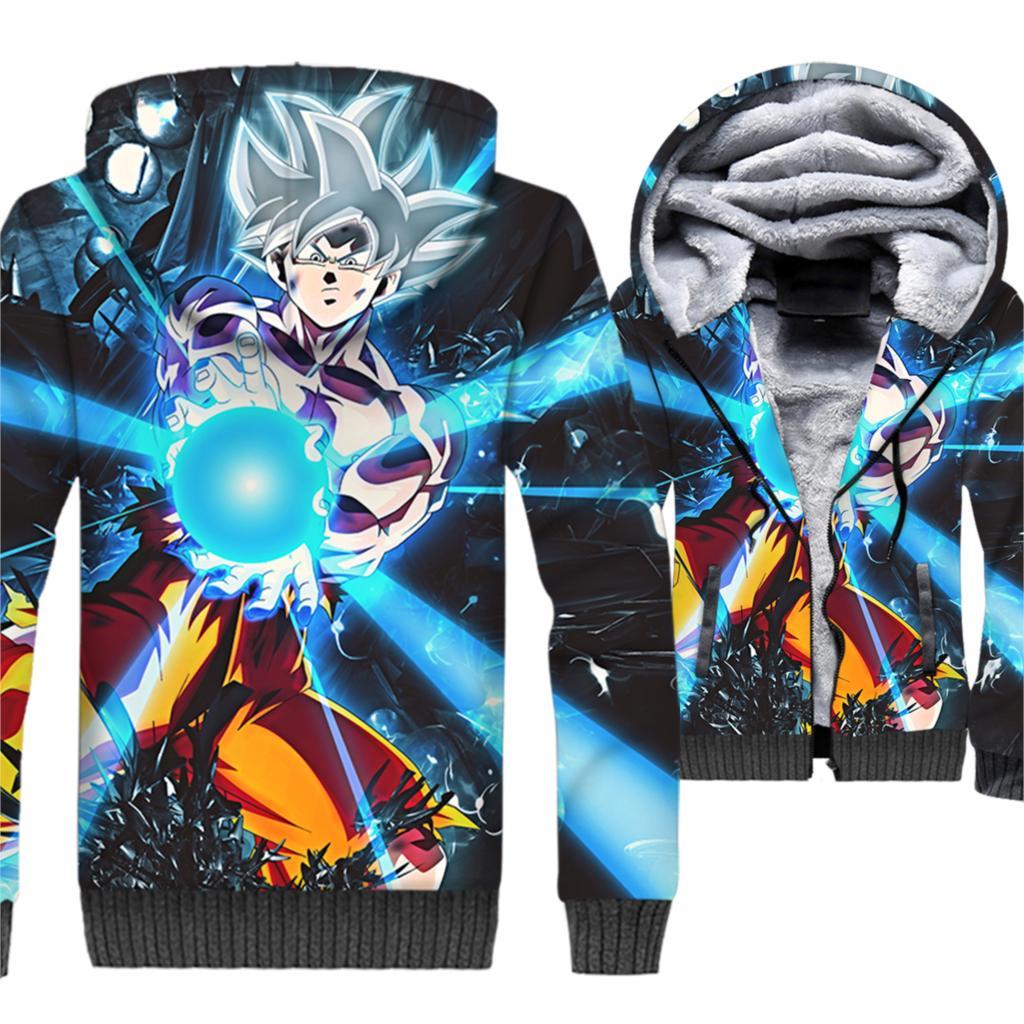 Manteau Dragon Ball Super Goku Ultra Instinct Kamehameha