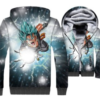 Manteau-Dragon-Ball-Super-Vegeto-SSJ-Bleu