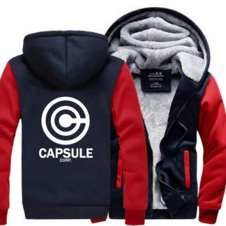 Manteau-Dragon-Ball-Z-Capsule-Corp-Bleu-Rouge