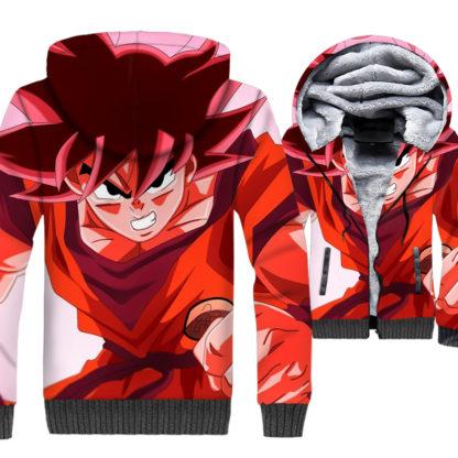 Manteau-Dragon-Ball-Z-Goku-Kaioken