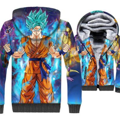 Manteau-Dragon-Ball-Z-Resurrection-Goku-SSJ-Bleu