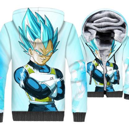 Manteau-Dragon-Ball-Z-Resurrection-Vegeta-SSJ-Bleu