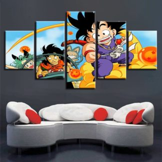Tableau-Dragon-Ball-Goku-Amis