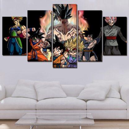 Tableau-Dragon-Ball-Goku-Evolution