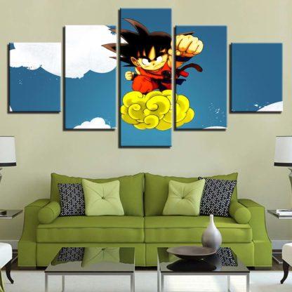 Tableau-Dragon-Ball-Goku-Poing