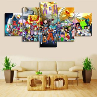 Tableau-Dragon-Ball-Super-Personnages
