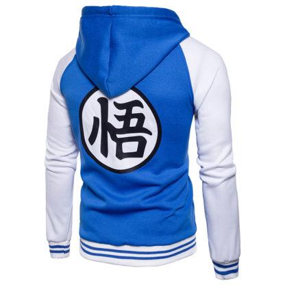 Veste-a-Capuche-Dragon-Ball-Z-Kanji-Go-Bleu-dos