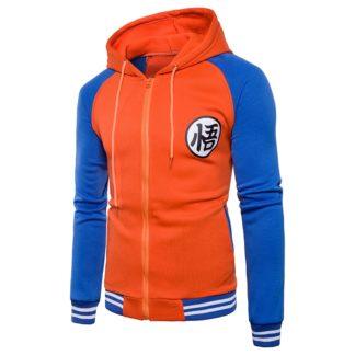 Veste-a-Capuche-Dragon-Ball-Z-Kanji-Go-Orange-Bleu