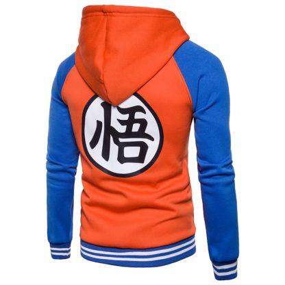 Veste-a-Capuche-Dragon-Ball-Z-Kanji-Go-Orange-Bleu-dos
