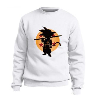 Sweat-Dragon-Ball-Goku-Boule-de-Cristal-Blanc