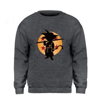 Sweat-Dragon-Ball-Goku-Boule-de-Cristal-Gris-Fonce