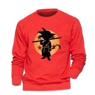 Sweat-Dragon-Ball-Goku-Boule-de-Cristal-Rouge