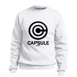 Sweat-Dragon-Ball-Z-Capsule-Corp-Blanc