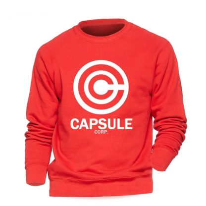Sweat-Dragon-Ball-Z-Capsule-Corp-Rouge-Blanc