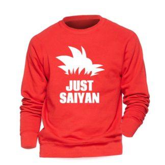 Sweat-Dragon-Ball-Z-Just-Saiyan-Rouge-Blanc