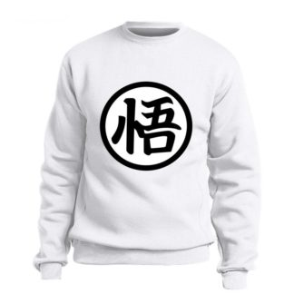 Sweat-Dragon-Ball-Z-Kanji-Go-Blanc