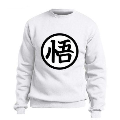 Sweat-Dragon-Ball-Z-Kanji-Go-Blanc