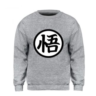 Sweat-Dragon-Ball-Z-Kanji-Go-Gris