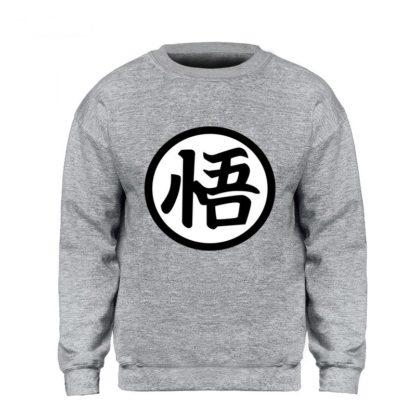 Sweat-Dragon-Ball-Z-Kanji-Go-Gris