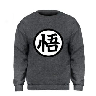 Sweat-Dragon-Ball-Z-Kanji-Go-Gris-Fonce