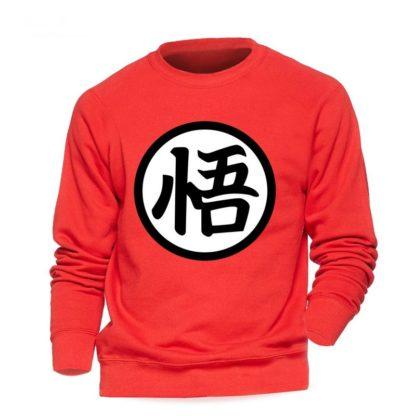 Sweat-Dragon-Ball-Z-Kanji-Go-Rouge