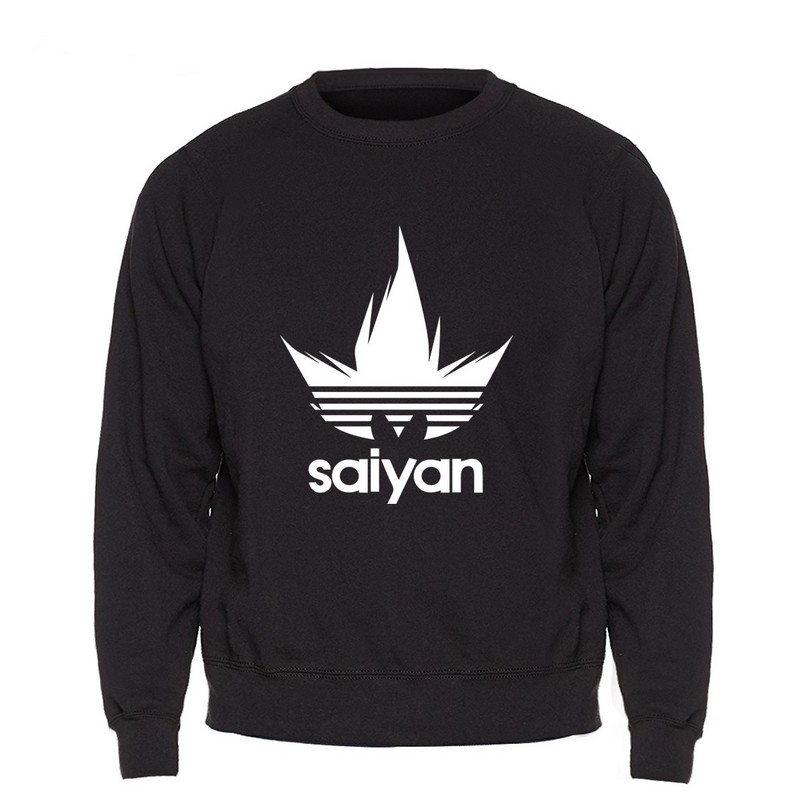 Sweat Dragon Ball Z Saiyan Noir Sweat Shirt Saiyan Boutik