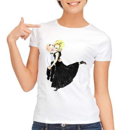 Tee-Shirt-Dragon-Ball-Super-Femme-Krilin-C18