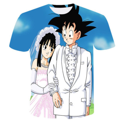 Tee-Shirt-Dragon-Ball-Z-Goku-Mariage