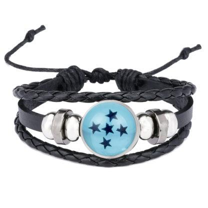 Bracelet-Dragon-Ball-Boule-de-Crystal-bleue-5-etoiles