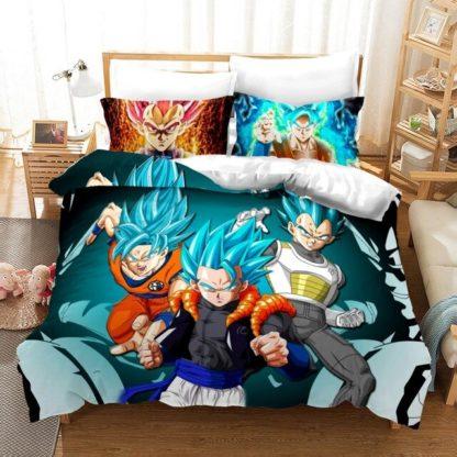 Housse-de-Couette-Dragon-Ball-Super-Gogeta-SSJ-Bleu