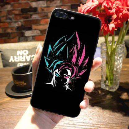 Coque-Iphone-Dragon-Ball-Super-Goku-SSJ-Bleu-Rose